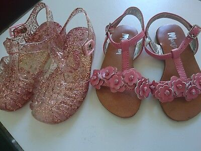 Monsoon Next baby girl sandals size UK 5 infant great condition 2 pairs
