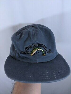 3bd476eed Polo Sportsman Ralph Lauren Hat Strapback Made In The USA Sport Flag  vintage 92