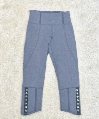 1ef8096463 RARE LULULEMON 4 Snap Me Up Crops In Charcoal Grey PERFECT - $55.00 ...