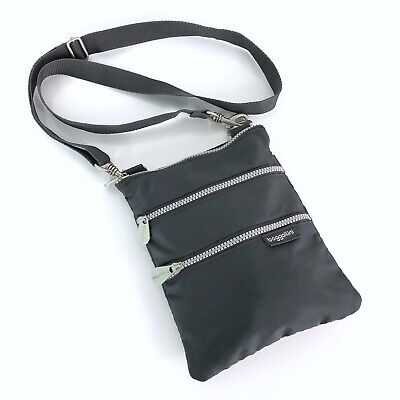 d35bcfc5e Baggallini Crossbody Wallet Purse Gray Small Bag Nylon Zip Travel Light  Weight