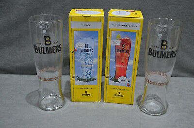 Pair Of (2) Bulmers Pint Cider Beer Glasses Glass 20oz 568ml CE M12 In Box New