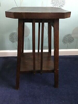 Lamp Table - Arts & Crafts - Oak (Free delivery)
