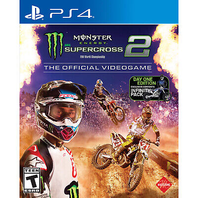 Monster Energy Supercross 2: The Official Videogame PS4 [Factory Refurbished]