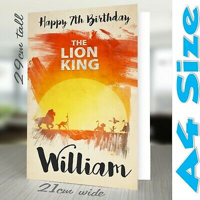 Male Lion Personalised Birthday Card