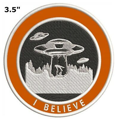 X-files I WANT TO BELIEVE Aliens Vintage Retro Iron on Patch Applique 1990s