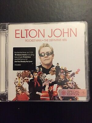Elton John Rocket Man Definitive Hits Barely Used 18 Track Best Of Cd Pop Rock