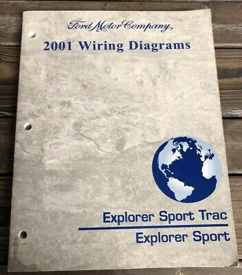 2001 ford explorer sport trac explorer sport wiring diagrams manual book oem