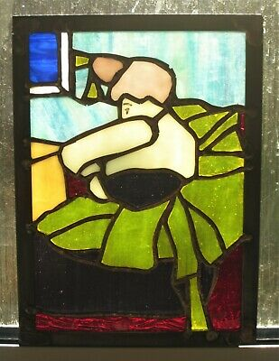 Toulouse Lautrec The Clown Cha-U-Kao Stained Glass Handmade Panel