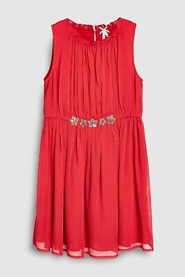 NEXT BNWT Girls Red Star Party Dress Age 10