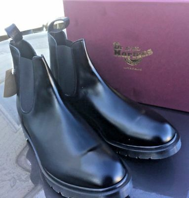 detailed pictures a7226 85153 Dr Martens Graeme black leather chelsea boots UK 9.5 EU 44 Made in England