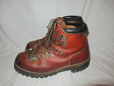 42db0981602 VINTAGE RED WING Irish Setter Mountaineering Hiking Leather Stomper Mens  Boots 8