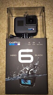 GoPro Hero6 Black Action Camera Touchscreen 12MP 5GHz Wi-Fi Waterproof. BNIB