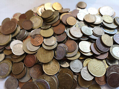 WORLDWIDE MIXED CIRULATED COINS 1kg  ideal for collectors vintage Free P&P to UK