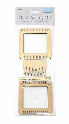 Small Wooden Weaving Loom Comb Needle Set Craft Hobby Kit