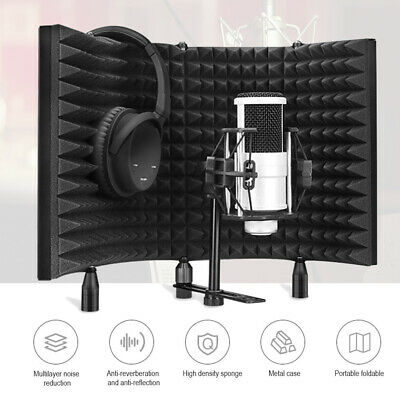 Microphone Shield Isolation Filter Screen Acoustic Panel Foam Sound Vocal Studio