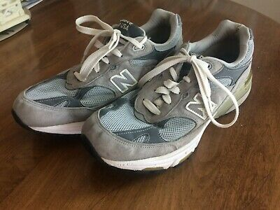 c68354c743de8 New Balance 993 USA Men's Size 10.5 Running Shoes Sneakers Used Suede Gray