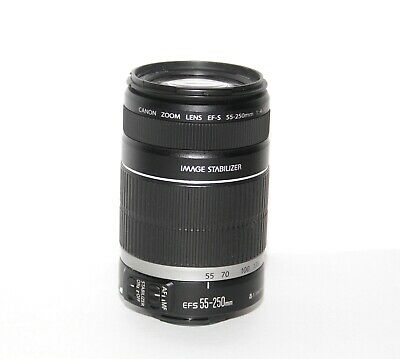 Canon EF-S 55-250mm F/4-5.6 II IS Lens - Clean Glass - Tested & Fast!