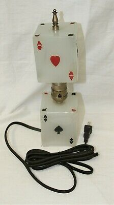 Vintage updated playing card lamp 1940-1950's in great condition and works.  #3