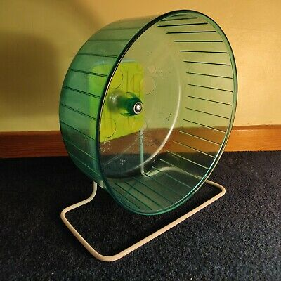Large Plastic Rat Exercise Wheel 30cm Stand, Clips (Hamster, Gerbil, Rodent)