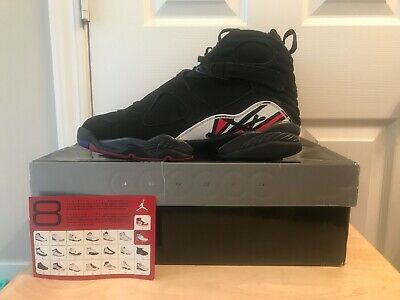 6e15a978458 Nike Air Jordan 8 XIII Retro Playoff Black Size 12 100% Authentic 2007  Release