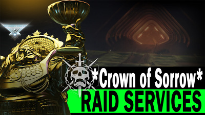 Destiny 2 Crown of Sorrow Full Raid Completion + Chest (PS4)