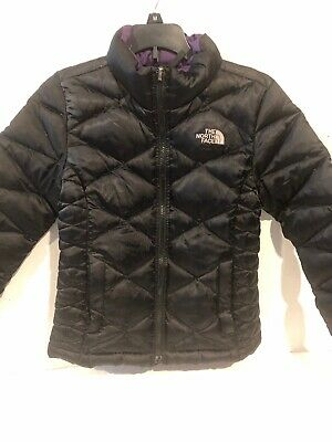 ea13f2175 GIRLS COAT DOWN Jacket North Face 550 Reversible Puffer Size XL 14 ...