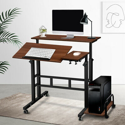 Portable Adjustable Laptop Desk Mobile PC Table Computer Bed Rotating Stand