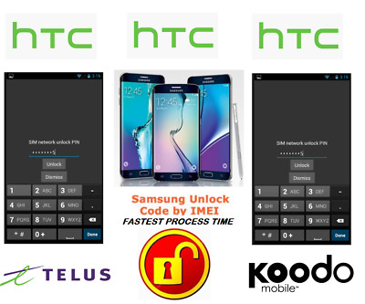 Telus / Koodo Unlock Code For Htc Phone Any Canadian Model