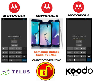 Telus / Koodo Unlock Code For Motorola Phone Any Canadian Model