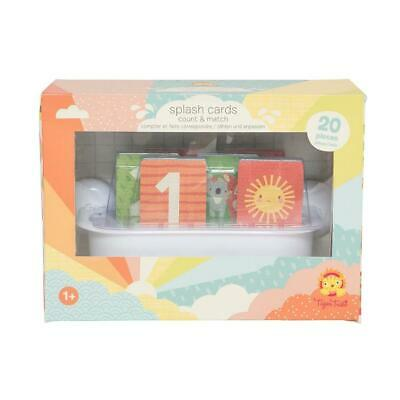 NEW Tiger Tribe Bath Toys - Splash Cards - Count and Match