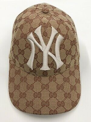 3fda0f29 GUCCI GG Canvas NY Yankees Patch Baseball Cap Style 539836 4HF16 8300  55-59cm