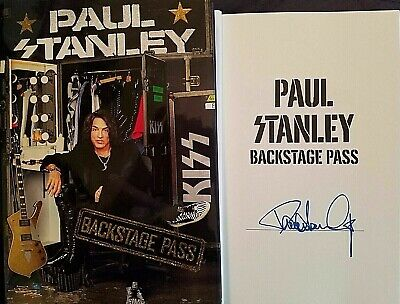 Paul Stanley Backstage Pass Book Signed Autographed KISS All Access Guide New