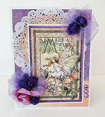 Handmade Fairie Dust Gift Card Holder Graphic 45 Birthday Bella Stitchery