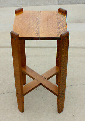 Mission Golden Oak Stickley Roycroft Era Side Table Arts and Crafts c.1915