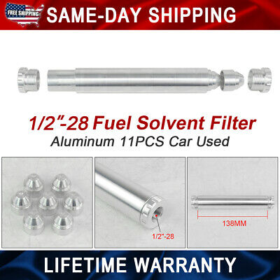 Only Car Usd 1/2-28 NAPA 4003 WIX 24003 Fuel Filter Aluminum Solvent Trap Silver