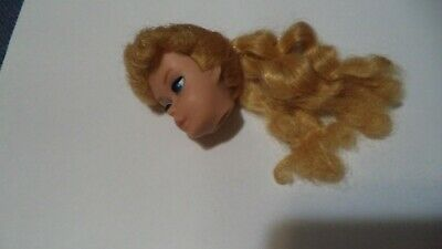 Barbie - Vintage Blonde Ponytail Barbie Doll Head - TLC Please Read