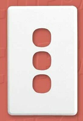 Clipsal C2000 SERIES SWITCH PLATE COVER 116x76mm 3-Gang, Clip On BRASS*AUS Brand