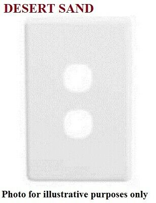 Clipsal C2000 SERIES SWITCH COVER 116x76mm 2-Gang, Screw Mounting DESERT SAND