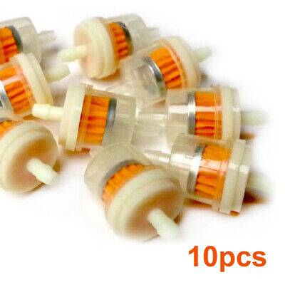 10pcs Small Engine Mower Inline Gas Fuel Oil Filter  1//4/'/'X5//16/'/'             G7