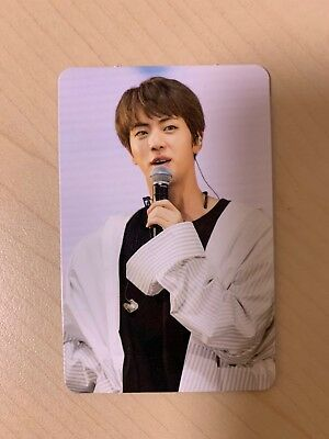 Jin Official Photocard 2017 The Wings Tour Concert DVD Live Trilogy Ep 3 RARE