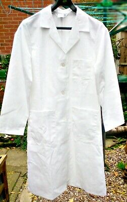 "NEW Alexandra White Lab Coat Poly-Cotton Made in UK Chest UK 38"" Euro 42"