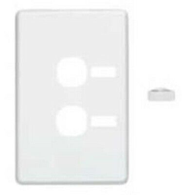 Clipsal C2000 SERIES COVER For Vertical Two Switch Grid With ID Window WHITE