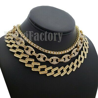 08eb2500bd1c6 ICED OUT PHARAOH Necklace One Row CZ Choker 18