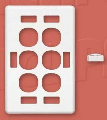 Clipsal C2000 SERIES COVER For Vertical Six Switch Grid With ID Window WHITE