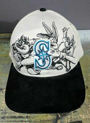 size 40 8fcb2 c3671 NWT New Seattle Mariners Looney Tunes Baseball Cap Hat Snapback Genuine MLB