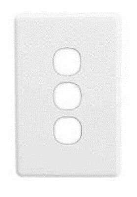 Clipsal C2000 SERIES SWITCH GRID PLATE & COVER 3-Gang, Less Mechanisms WHITE