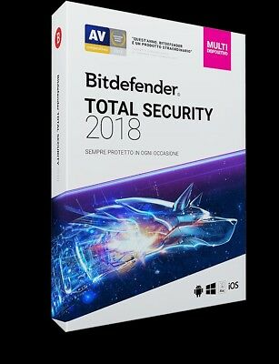 BitDefender TOTAL Security Multi device 2020 - 5 dispositivi | 2 anni + VPN