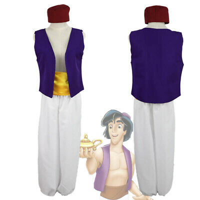 Animation Aladdin Prince Cosplay Costume Men Clothes uniform Fancy Dress S-2XL