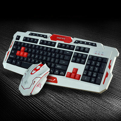 AU 2.4GHz Wireless Gaming Keyboard W/ Mouse Set Desktop Laptop for Home/Office