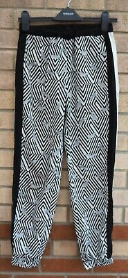 d07f9a40032d Topshop White Black Tiger Animal Print Striped Silky Feel Harem Trousers 8